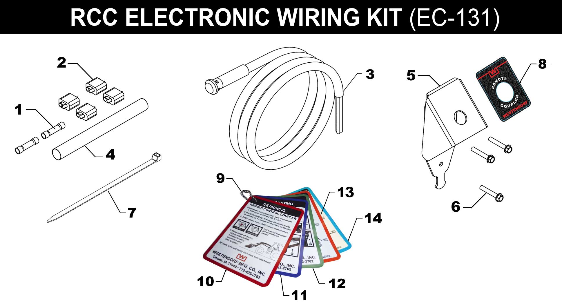 EC-C131 WIRING KIT FOR REMOTE COUPLER
